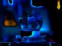 Landmarke durch ultrakurze Laserpulse markiert